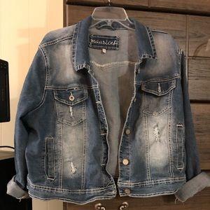 Plus sized jean jacket